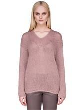 Джемпер EREDA 17WEDSW100 63% шерсть, 25% полиамид, 12% полиэстер Грязно-розовый Италия изображение 2
