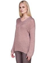 Джемпер EREDA 17WEDSW100 63% шерсть, 25% полиамид, 12% полиэстер Грязно-розовый Италия изображение 3