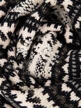 Шарф Lamberto Losani A258074 100% кашемир Черно-белый Италия изображение 1