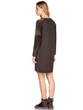 Платье Lamberto Losani 252177 80% шерсть, 10% кашемир, 10% шёлк Хаки Италия изображение 3