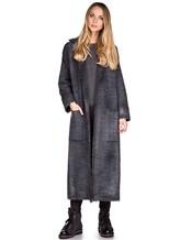 Пальто AVANT TOI 217D6401 85% шерсть, 15% кашемир Серо-синий Италия изображение 0