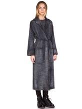Пальто AVANT TOI 217D6401 85% шерсть, 15% кашемир Серо-синий Италия изображение 2