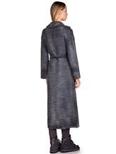 Пальто AVANT TOI 217D6401 85% шерсть, 15% кашемир Серо-синий Италия изображение 3