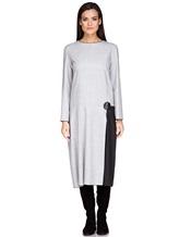 Платье Piazza Sempione PV023B0 98% шерсть, 2% эластан Светло-серый Италия изображение 1