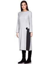 Платье Piazza Sempione PV023B0 98% шерсть, 2% эластан Светло-серый Италия изображение 2