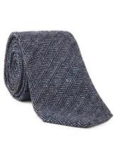 Галстук Fabio Toma TIE SILVER 100% шерсть Сине-серый Италия изображение 1