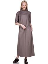 Платье EREDA E251528 88% шерсть, 10% полиамид, 2% эластан Какао Италия изображение 0