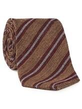 Галстук Stile Latino Napoli 148/7.5 90% шерсть, 10% шёлк Бордово-коричневый Италия изображение 1