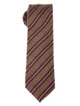 Галстук Stile Latino Napoli 148/7.5 90% шерсть, 10% шёлк Бордово-коричневый Италия изображение 0