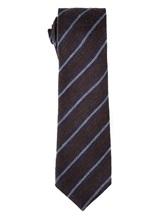 Галстук Stile Latino Napoli 148/7.5 90% шерсть, 10% шёлк Сине-коричневый Италия изображение 1
