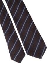 Галстук Stile Latino Napoli 148/7.5 90% шерсть, 10% шёлк Сине-коричневый Италия изображение 2