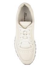 Кроссовки Santoni MBVR20507 100% кожа Белый Италия изображение 4