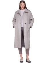 Пальто Peserico S20410 90% шерсть, 10% полиамид Серо-бежевый Италия изображение 0
