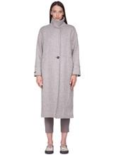 Пальто Peserico S20410 90% шерсть, 10% полиамид Серо-бежевый Италия изображение 1
