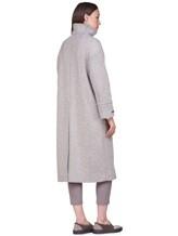 Пальто Peserico S20410 90% шерсть, 10% полиамид Серо-бежевый Италия изображение 3