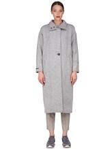 Пальто Peserico S20410 90% шерсть, 10% полиамид Светло-серый Италия изображение 1