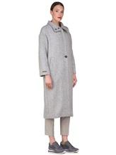 Пальто Peserico S20410 90% шерсть, 10% полиамид Светло-серый Италия изображение 2