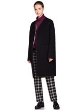 Пальто Santoni DH1B00003 71% шерсть, 29% мохер Черный Италия изображение 1