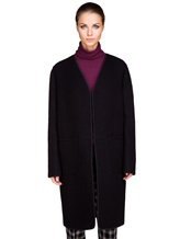 Пальто Santoni DH1B00003 71% шерсть, 29% мохер Черный Италия изображение 2