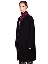 Пальто Santoni DH1B00003 71% шерсть, 29% мохер Черный Италия изображение 3
