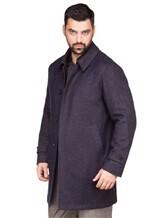 Пальто LARUSMIANI 024514ABB 43% шерсть, 37% альпака, 20% полиамид Бежево-синий Италия изображение 0
