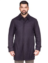 Пальто LARUSMIANI 024514ABB 43% шерсть, 37% альпака, 20% полиамид Бежево-синий Италия изображение 1