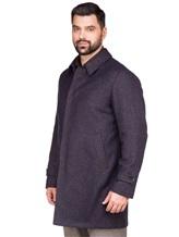 Пальто LARUSMIANI 024514ABB 43% шерсть, 37% альпака, 20% полиамид Бежево-синий Италия изображение 2