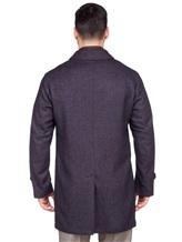 Пальто LARUSMIANI 024514ABB 43% шерсть, 37% альпака, 20% полиамид Бежево-синий Италия изображение 3