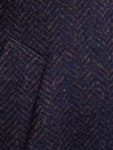 Пальто LARUSMIANI 024514ABB 43% шерсть, 37% альпака, 20% полиамид Бежево-синий Италия изображение 4