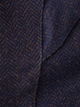 Пальто LARUSMIANI 024514ABB 43% шерсть, 37% альпака, 20% полиамид Бежево-синий Италия изображение 5