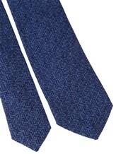 Галстук Stile Latino Napoli 148/7.5 49% шерсть, 30% шёлк, 21% кашемир Синий Италия изображение 2