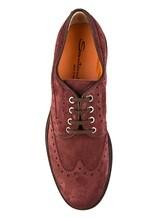 Ботинки Santoni MGMN15729 100% кожа темно-лиловый Италия изображение 4