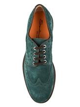 Ботинки Santoni MGMN15729 100% кожа Изумрудный Италия изображение 4
