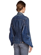 Куртка ERIKA CAVALLINI E7AU01 100%хлопок Синий Италия изображение 3