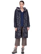 Пальто Lorena Antoniazzi LP3208C3 90% шерсть, 10% кашемир Сине-серый Италия изображение 0