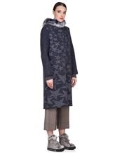 Пальто Lorena Antoniazzi LP3208C3 90% шерсть, 10% кашемир Сине-серый Италия изображение 2