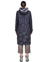 Пальто Lorena Antoniazzi LP3208C3 90% шерсть, 10% кашемир Сине-серый Италия изображение 3