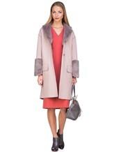 Пальто Agnona L11104 100% кашемир Грязно-розовый Италия изображение 0