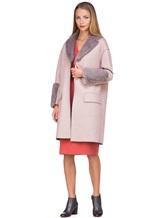 Пальто Agnona L11104 100% кашемир Грязно-розовый Италия изображение 1