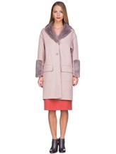 Пальто Agnona L11104 100% кашемир Грязно-розовый Италия изображение 2