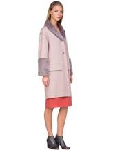 Пальто Agnona L11104 100% кашемир Грязно-розовый Италия изображение 3