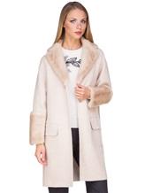 Пальто Agnona L11104 100% кашемир Светло-бежевый Италия изображение 0