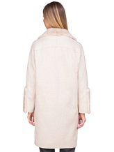 Пальто Agnona L11104 100% кашемир Светло-бежевый Италия изображение 4