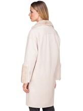 Пальто Agnona L11104 100% кашемир Светло-бежевый Италия изображение 5