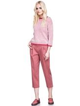 Джемпер Peserico S99243F05 70% альпака, 30% полиамид Бело-розовый Италия изображение 1