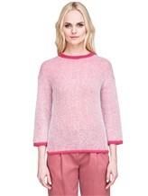 Джемпер Peserico S99243F05 70% альпака, 30% полиамид Бело-розовый Италия изображение 2