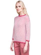Джемпер Peserico S99243F05 70% альпака, 30% полиамид Бело-розовый Италия изображение 3