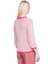 Джемпер Peserico S99243F05 70% альпака, 30% полиамид Бело-розовый Италия изображение 4