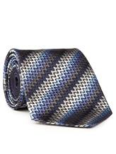 Галстук Missoni 6298 100% шёлк Серо-голубой Италия изображение 1