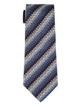 Галстук Missoni 6298 100% шёлк Серо-голубой Италия изображение 0